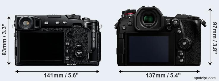X-Pro2 and G9 rear side