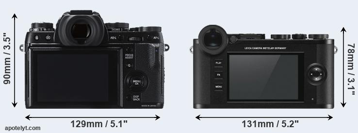 X-T1 and CL rear side