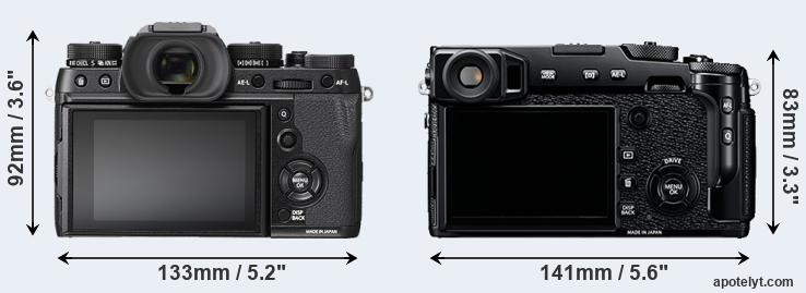 X-T2 and X-Pro2 rear side