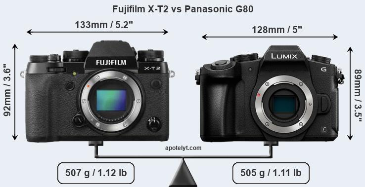 Compare Fujifilm X-T2 vs Panasonic G80