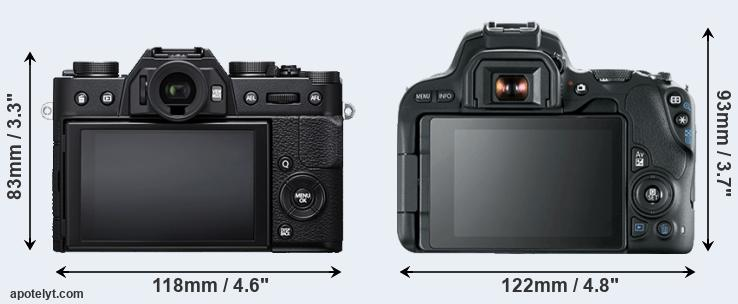 X-T20 and 200D rear side