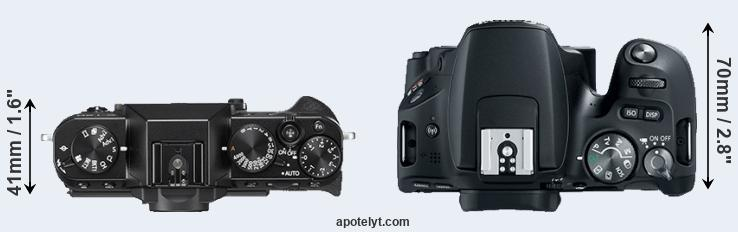 X-T20 versus 200D top view