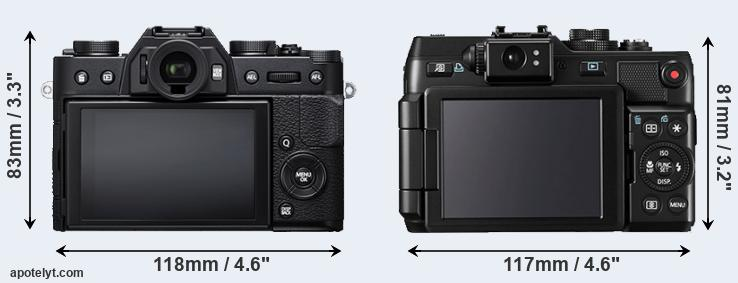X-T20 and G1X rear side