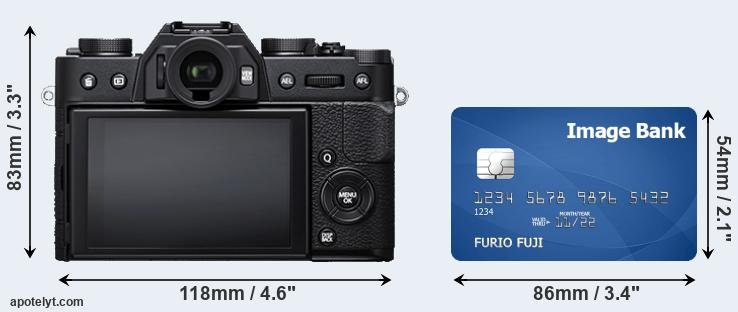 X-T20 and credit card rear side
