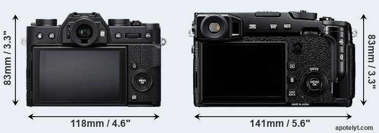 X-T20 and X-Pro2 rear side