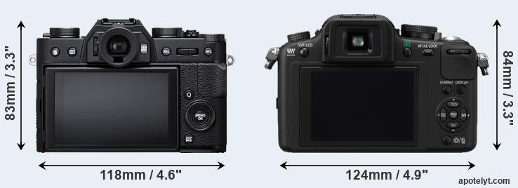 X-T20 and G10 rear side
