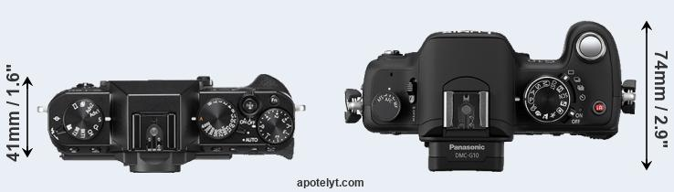 X-T20 versus G10 top view