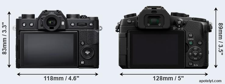 X-T20 and G85 rear side