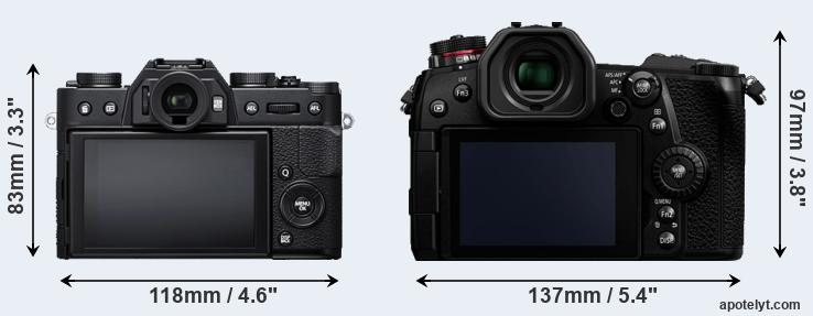 X-T20 and G9 rear side