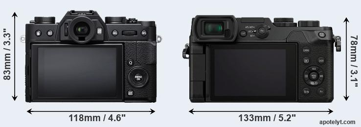 X-T20 and GX8 rear side