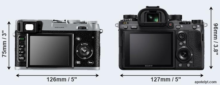 X100 and A9 rear side