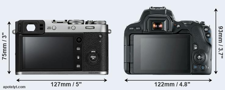 X100F and 200D rear side