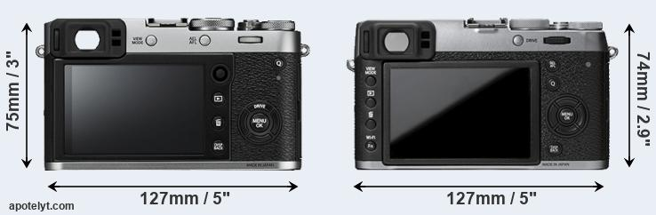 Fujifilm X100F Vs X100T Front Versus Top View And Rear Side