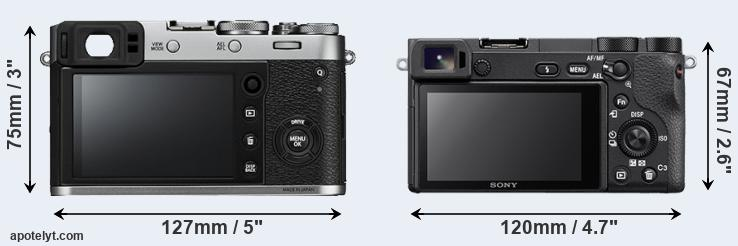 X100F and A6500 rear side