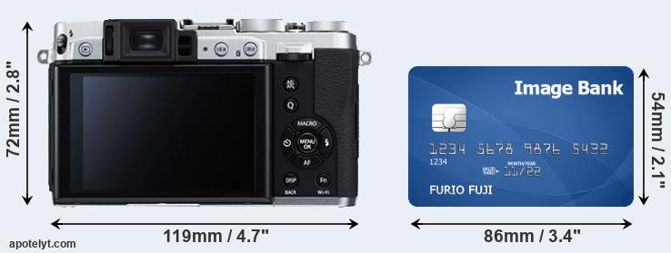 X30 and credit card rear side