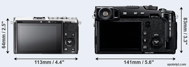 X70 and X-Pro2 rear side