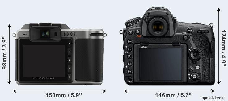 X1D and D850 rear side