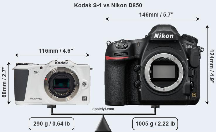 Compare Kodak S-1 and Nikon D850