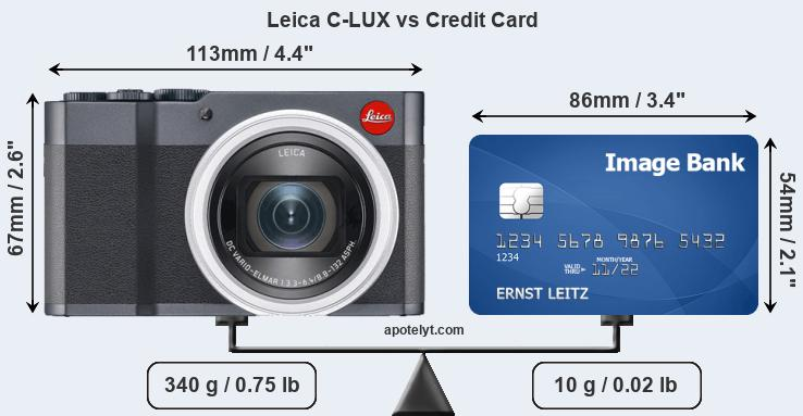 Leica C-LUX vs credit card front