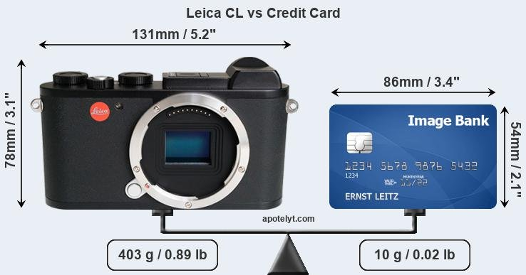 Leica CL vs credit card front
