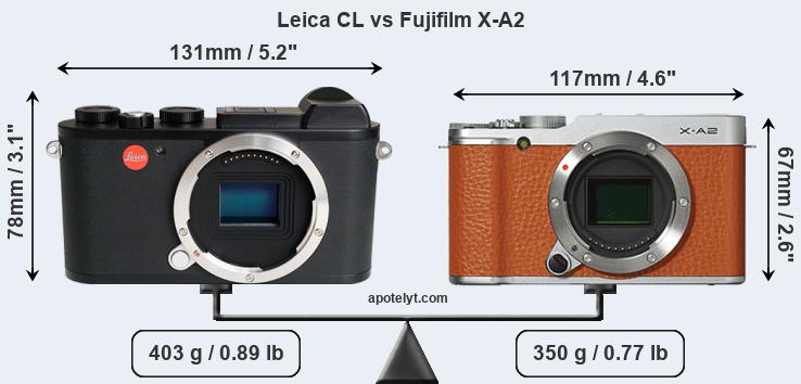 Compare Leica CL vs Fujifilm X-A2