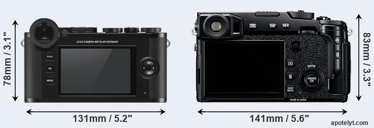 CL and X-Pro2 rear side