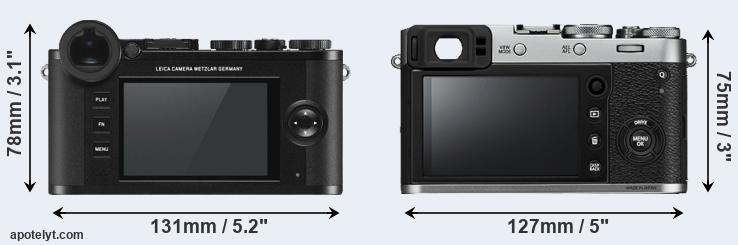 CL and X100F rear side