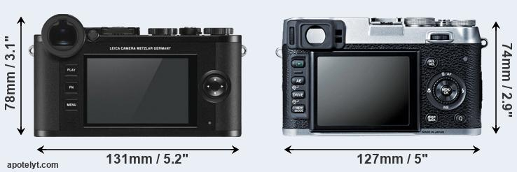 CL and X100S rear side