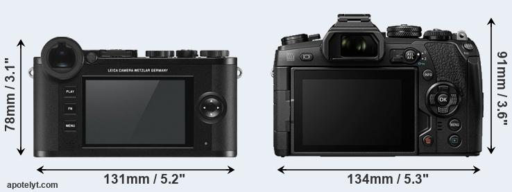 CL and E-M1 II rear side
