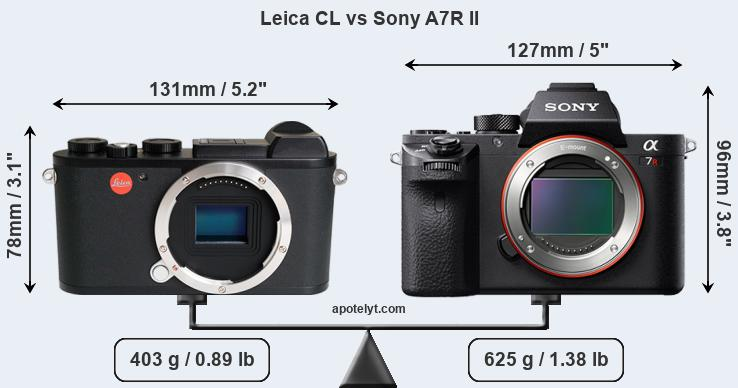 Leica CL vs Sony A7R II front