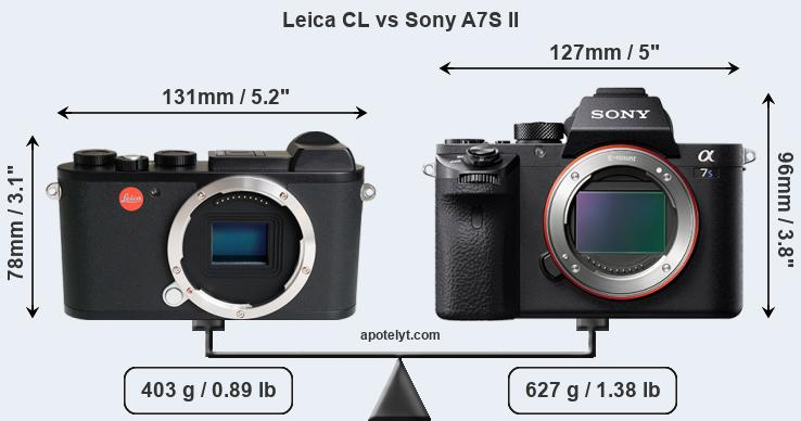 Compare Leica CL vs Sony A7S II