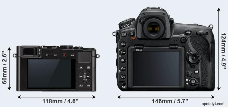 D-LUX Typ 109 and D850 rear side
