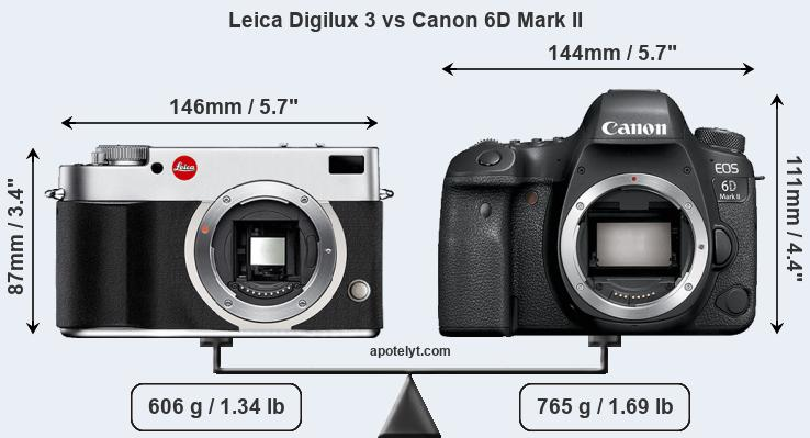 Leica Digilux 3 vs Canon 6D Mark II front
