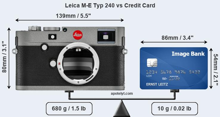 Leica M-E Typ 240 vs credit card front
