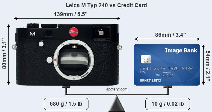 Leica M Typ 240 vs credit card front
