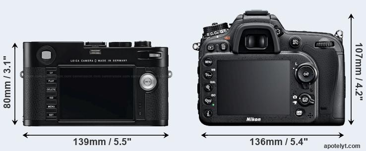 M Typ 240 and D7100 rear side