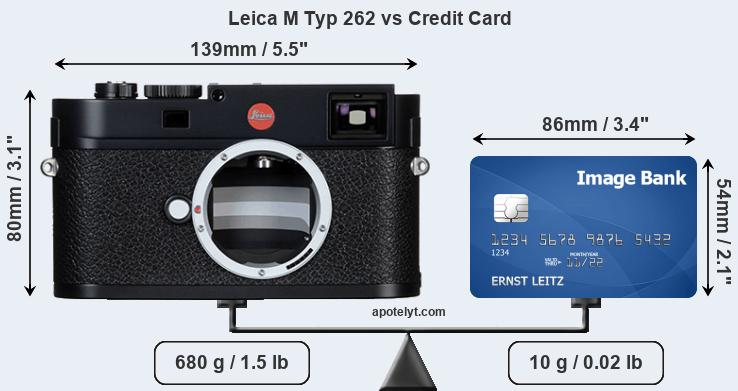 Leica M Typ 262 vs credit card front