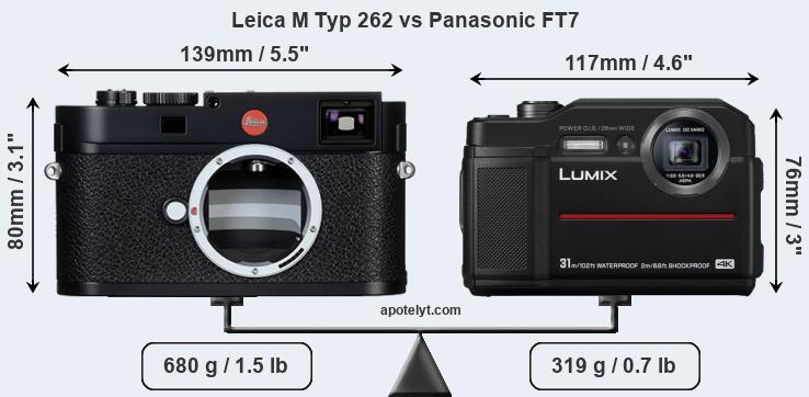 Size Leica M Typ 262 vs Panasonic FT7