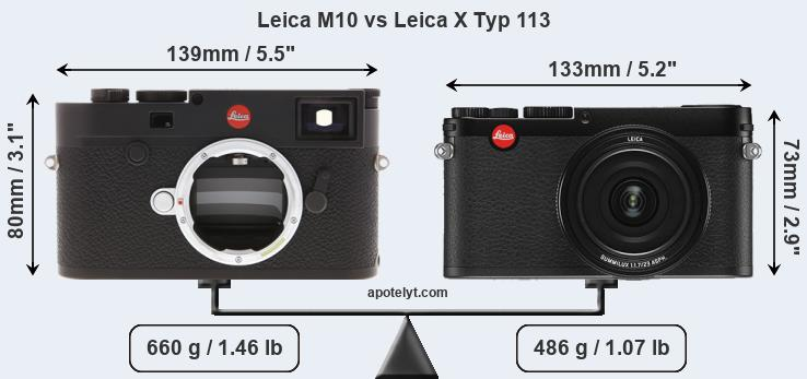 Compare Leica M10 and Leica X Typ 113