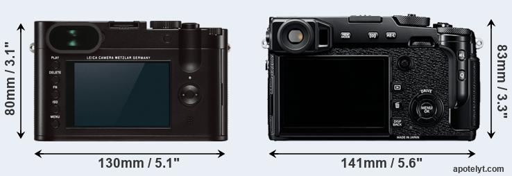 Q Typ 116 and X-Pro2 rear side