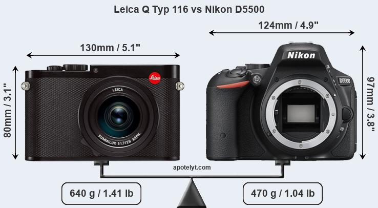 Compare Leica Q Typ 116 and Nikon D5500