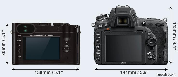 Q Typ 116 and D750 rear side