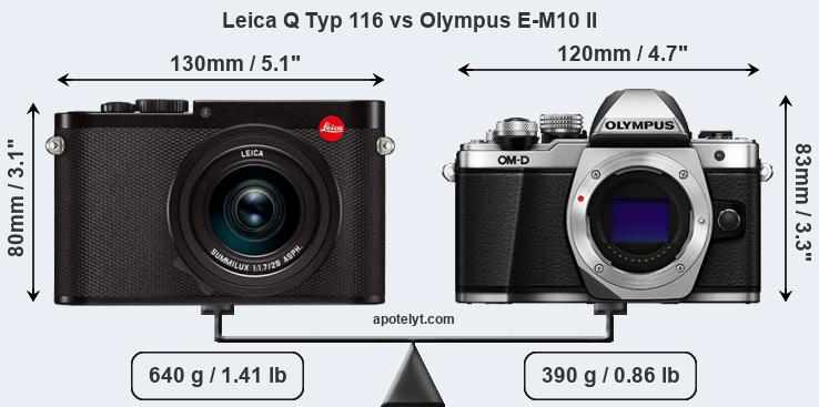 Compare Leica Q Typ 116 and Olympus E-M10 II