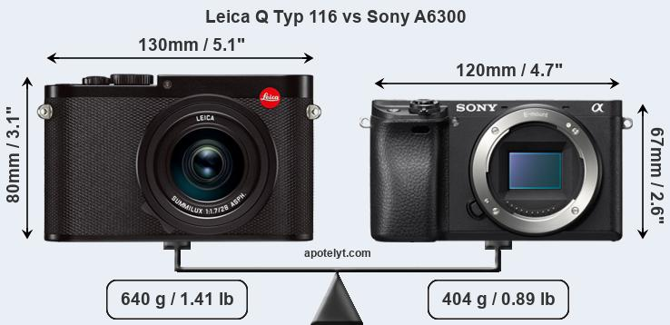 Leica Q Typ 116 vs Sony A6300 front