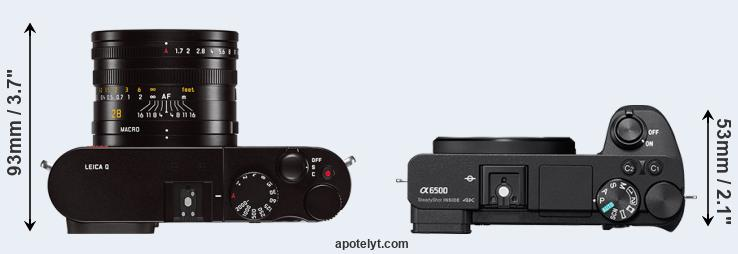 Q Typ 116 versus A6500 top view