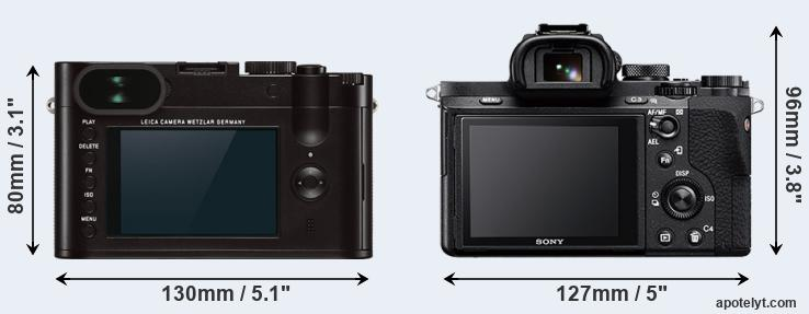 Q Typ 116 and A7 II rear side