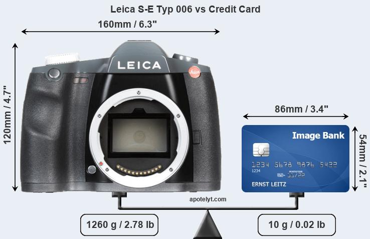 Leica S-E Typ 006 vs credit card front