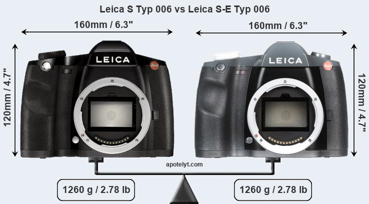 Compare Leica S Typ 006 and Leica S-E Typ 006