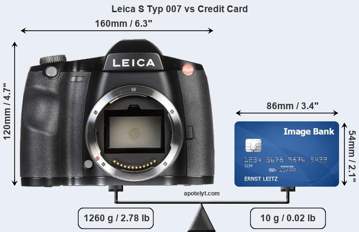 Leica S Typ 007 vs credit card front