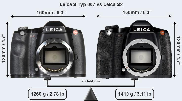 Leica S Typ 007 vs Leica S2 front